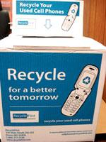 Recycle bin for cell phones.