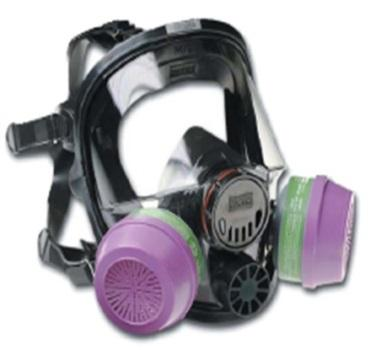 Respiratory with face shield.